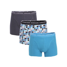3-PACK BASIC CHECK BOXERS